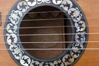 Rosette of restored Lacote salon guitar 1837